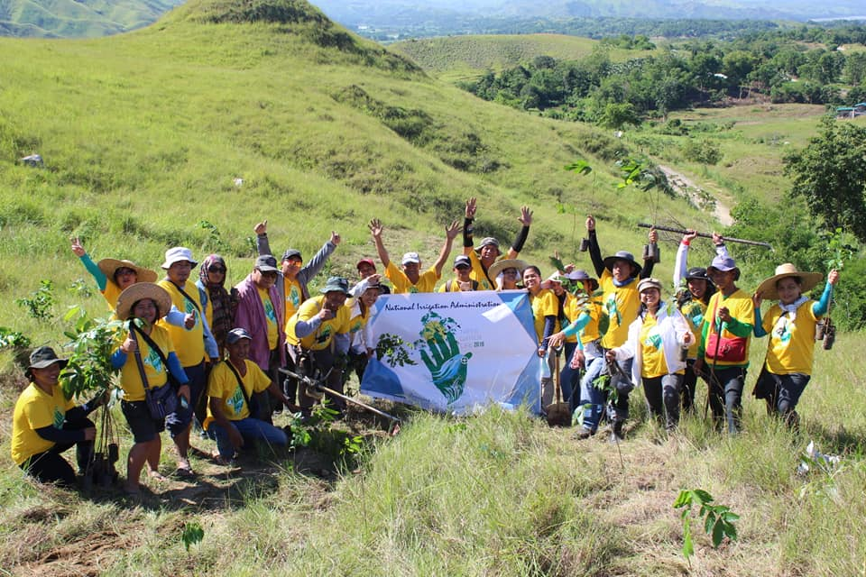 NIA-Ifugao Satellite Office employees planted coconut, mahogany and narra seedlings at Lamut Eco-park in Brgy. Sanafe, Lamut, Ifugao, one of the nine planting sites of NIA-CAR during the NIA nationwide synchronized tree planting on June 14, as part of the agency's celebration of its 56th founding anniversary