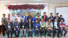 STAKEHOLDERS' FORUM. Representatives from various sectors including the different local government units, irrigators' associations, Philippine National Police, religious sector and the media commit to support the NIA in the implementation of its irrigation projects and programs in the Province of Benguet during the stakeholders' conference on December 27, 2017.