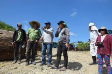Engr. Leonardo A. Lamangen, Acting Division Manager ofApayao IMO (second form left), and Engr. Godofredo B.Velaque (fourth from left) conduct site visit to Marimay SRIP with project in-charge Engr. Jayson Doctolero. Photo by Mylene Malecdan