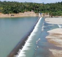 Corewall and intake of the West Apayao Abulug Irrigation System in Apayao Province  #Photo courtesy of Apayao IMO